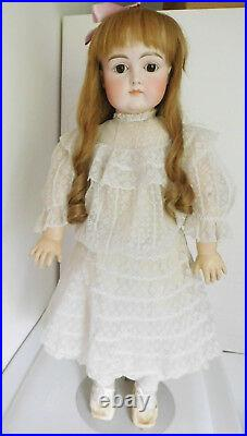 Early Antique Kestner Closed Mouth 27 Bisque Child with Square Cheeks