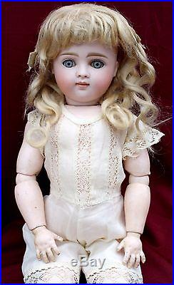 Early Antique closed Mouth Pouty bisque head doll, Kestner Marked 6, X 15