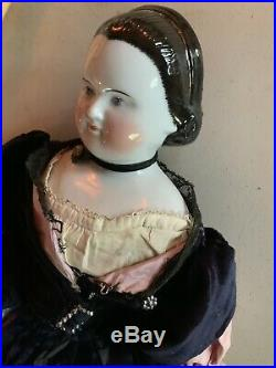 Exquisite 18 German China Head Doll-mary Todd Lincoln