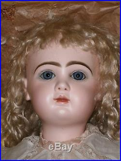 Exquisite A/0 Antique French Bisque Bebe Jumeau Doll 12, Marked Shoes, Jumeau Box