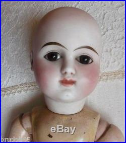 Extremely Rare Early Antique French bisque Mistery Doll, all original