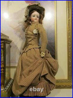F. G. POUPEE IN ORIGINAL COSTUME 18 IN. TALL, Marked 3 OUTSTAND FRENCH DOLL