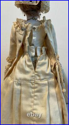 F. Gaultier French Fashion 12'' Doll, Gusset Kid Body, Paperweight Blue Eyes