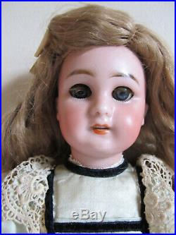 Fabulous Antique JUMEAU DEP 12 All Original, Perfect Bisque, Working Blue Eyes