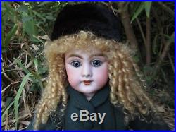 French Antique Doll. 20 1/2. Bisque Head Dep 9. Inset Eyes. Jumeau Body