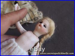 French antique all bisque doll in presentation Mademoiselle mignonette 1880