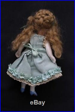French mignonette doll Antique 4 all bisque miniature doll Circa 1890