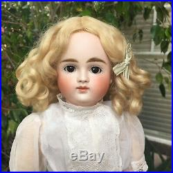 GORGEOUS! 17 Closed Mouth VII Kestner Antique Doll 1882 Original Wig Early