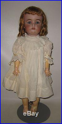 German Antique S & H 1299 Character Bisque Head Doll Compo Body 21 tall #BX16