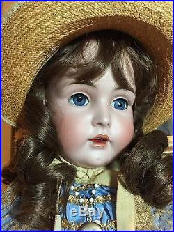 Gorgeous Couture Dressed Antique Bisque Doll By Kestner