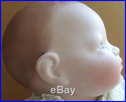 Grace Putnam Bye Lo Antique German Bisque Head Doll Large 20 Inch With Crier