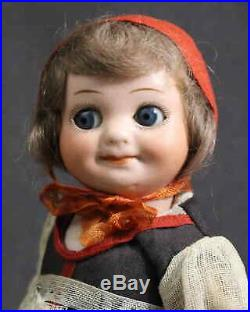 Great Character Antique Bisque Doll Am 323 Googly All Original
