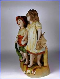 Heubach Hertwig Victorian Piano Baby bisque figurine 15 Largest Size Exc Cond