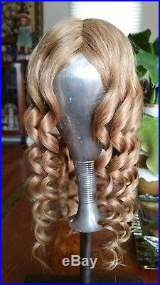 Human Hair Wig For Antique Bisque Porcelain Doll