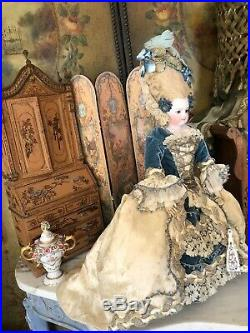 INCREDIBLE ANTIQUE FRENCH FASHION DOLL POUPEE BARRIOS. Carmel Doll Shop
