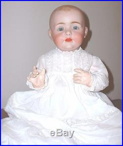 Jdk Bisque Head Baby Doll. 22 Inches Tall. Antique Dress. Great Head & Body