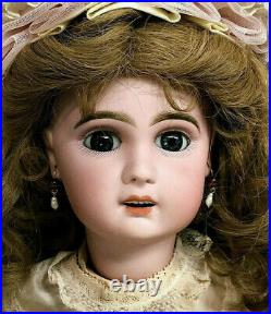 Jumeau Bebe 22 Walker Incised X Open-Mouth French Bisque-Head Antique Doll