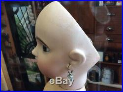 Jumeau Bebe #9 Open Mouth Stamped Wood Composition Body Paperweight Eyes