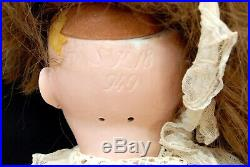 LARGE 42 SIMON HALBIG S H 18 949 BISQUE HEAD DOLL With TELEPHONE STAND & CHAIR