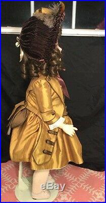 Large 29 German Bisque Girl 1906 Schoneau And Hoffmeister Compo Body