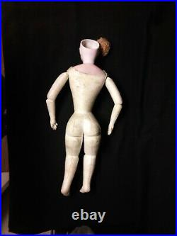 Large Antique French Fashion Doll, Unusual Face