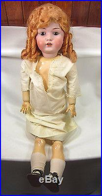 Large Antique Kestner JDK German Bisque 32 Inch Child Doll with Composition Body