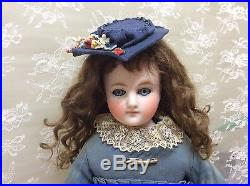 Lovely Antique Bisque Belton Sonneberg Style Child Fashion Doll