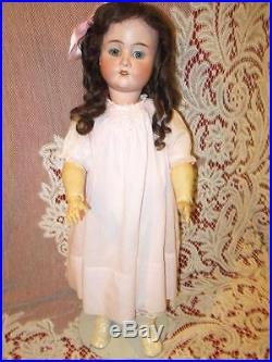 Lovely antique German bisque doll marked Viola, 24 inch