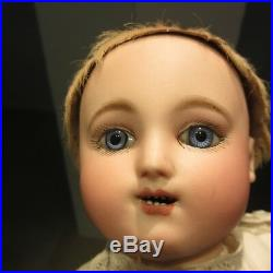 Mechanical Bebe Steiner, 18 gigoteur, works well. ANTIQUE FRENCH BISQUE HEAD DOLL