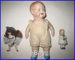 Mixed Lot of Twelve Small Antique German All Bisque Dolls MC38