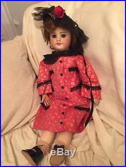 Nicely Dressed Antique 20 SFBJ Mold 60 French Bisque Doll
