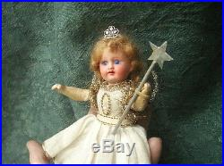 Old Antique Armand Marseille German Bisque Head Christmas Fairy Angel Doll Boxed