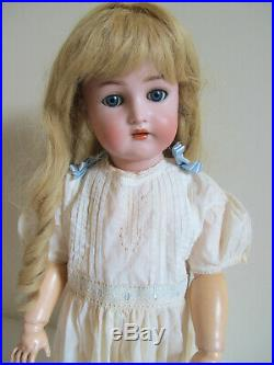 Perfect Bisque Head, 23 Antique Simon Halbig, KR German Doll, French HH Wig
