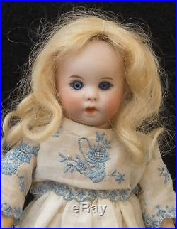 Petite 8 French Bisque Character SFBJ 247 Antique Doll