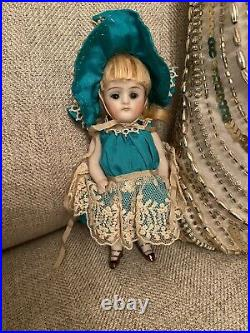 Pretty Antique 5 All Bisque German Kestner Mold 130 Doll Original Clothes