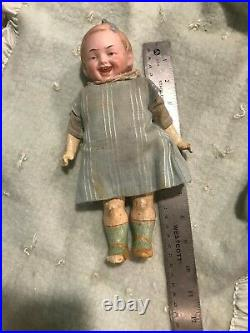 RARE 9 Antique German Recknagel Character Face Early 1900's R57A 8/0