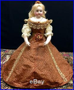 RARE Leontine ROHMER Lady-Body French Fashion Doll Bisque Closed Mouth Antique