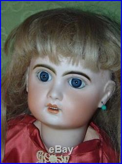 RARE MOLD! ANTIQUE JUMEAU French Bisque Doll X 9 Needs TLC