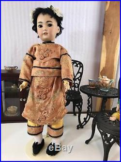 Rare Antique 21 S & H #1329 German Bisque Oriental Asian Character Doll