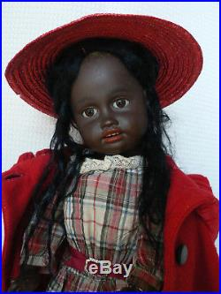 Rare Antique French Jumeau Black Ethnic Character Bisque Doll by Kuhnlenz #34