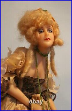 Rare Antique French Wax Boudoir Doll Stunning