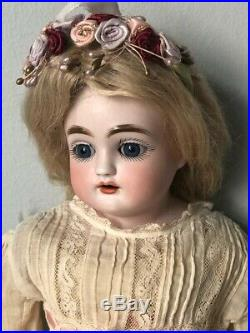 Rare Antique German Kestner French Type Bisque Turned Head Character Doll 13