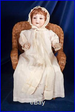 Rare Armand Marseille 560a Bisque Head CHARACTER BABY Doll 15 Antique Clothing
