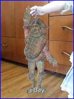 Rare Fabulous Antique French Polichinelle Wood Bisque German Doll Toy