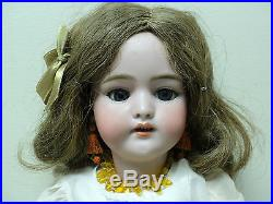 SIMON & HALBIG ANTIQUE 17 GERMAN DOLL with BISQUE SOCKET HEAD, DOLLY FACE #1079