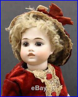 SPLENDID ANTIQUE GERMAN (CLOSED MOUTH) BISQUE DOLL with'BRU' LOOK