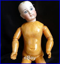 Scarce Closed Mouth Bru Belton Type 18 Antique Bisque Doll, Composition Body