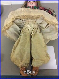 Simon And Halbig Very Large 26 Inches Late 1800s Silk Dress Antique