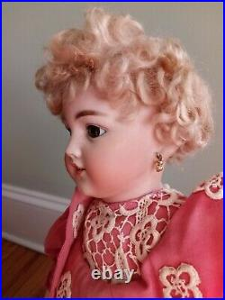 Stunning S&H 1249 Antique Santa Doll by Simon and Halbig German Bisque