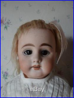Sweet 17 1/2 Antique German Bisque Head Doll Simon Halbig 1010 With Cork Pate